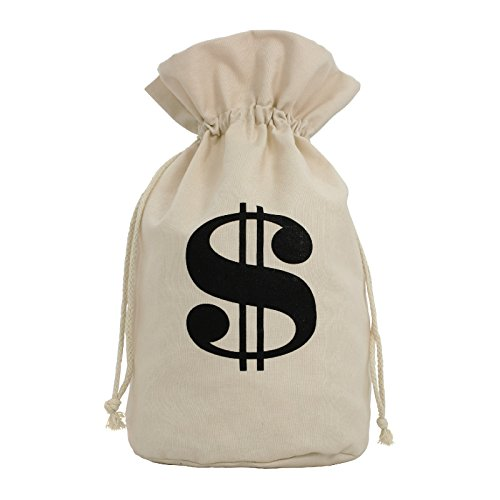 X-Large Prop Canvas Money Bag Old West Costume 14 x 17 Brown]()
