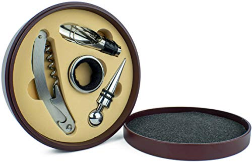 Opener Accessory Gift Set in Cherrywood Round Case ()