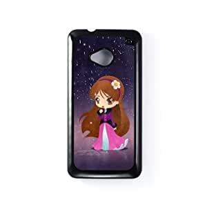 Princess Margarida Carcasa Protectora Snap-On en Plastico Negro para HTC® One M7 de DevilleArt + Se incluye un protector de pantalla transparente GRATIS