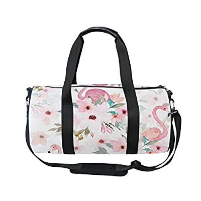 best Cooper girl Flamingo And Flowers Duffels Bag Travel Sport Gym Bag