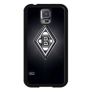 Black Printed VfL Borussia M?nchengladbach Logo Case Design Hrad Plastic Case Cover For Samsung Galaxy S5