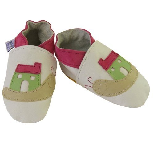 Daisy Roots Chaussures pour bébé escargot avec sa maison en cuir souple (Taille 0à 6mois)