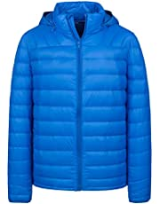 Wantdo Men's Packable Lightweight Down Jacket with Removable Hood