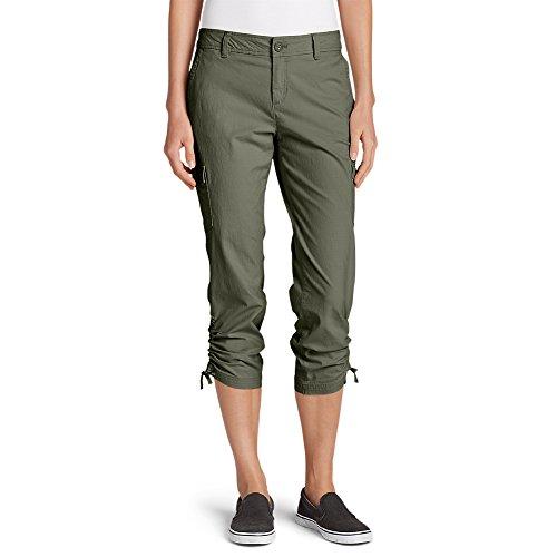 Eddie Bauer Women's Adventurer Stretch Ripstop Crop Cargo Pants - Slightly Curv,10 Regular,Sprig (Green) ()