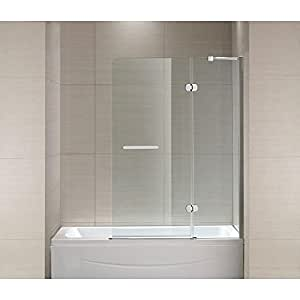 Sc70014 Mia 40 In X 55 In Frameless Hinge Tub Shower