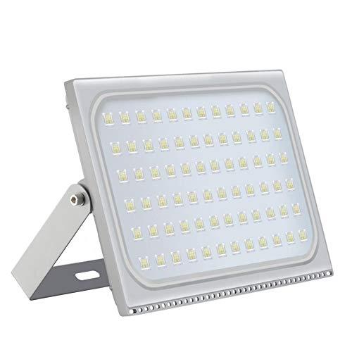 Outdoor Garage Lighter - Rainrain27 500W Outdoor LED Flood Lights, Thinner Lighter Outdoor Security Light, 45000Lm, Daylight White 6000-6500K, IP65 Waterproof, Landscape Spotlights for Garage, Garden, Lawn and Yard 110v