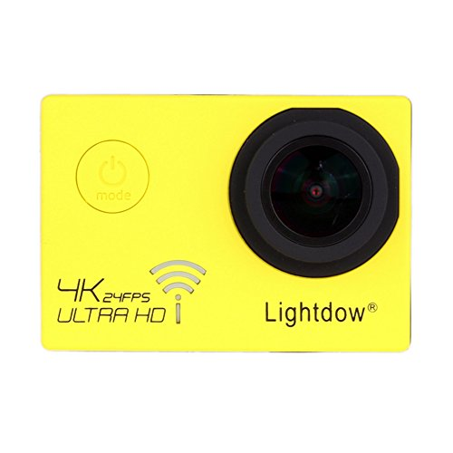 Lightdow LD-4K 12.40M Real 4K High Speed Wifi Sports Action Camera Bundle with Upgrade DSP: Novatek NT96660 Chip, Sony IMX117CQT COMS Sensor, 170° Wide Angle Lens and Bonus Battery (Yellow) Action Cameras ZLY Technology