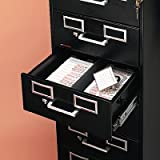 Eight-Drawer File Cabinet for 3 x 5 & 4 x 6