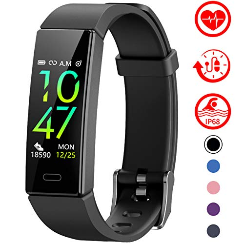 Longess Fitness Tracker 1.3 Color Screen Fitness Watch,Sport Tracker IP68 Waterproof for Swimming Heart Rate with Blood Pressure and Activity Tracking Monitor Monitor Calorie Counter