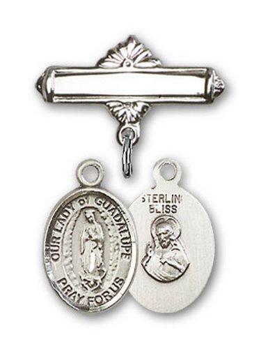 Icecarats Créatrice De Bijoux En Argent Sterling O / L De Charme Guadalupe Broche De Badge 1 X 5/8