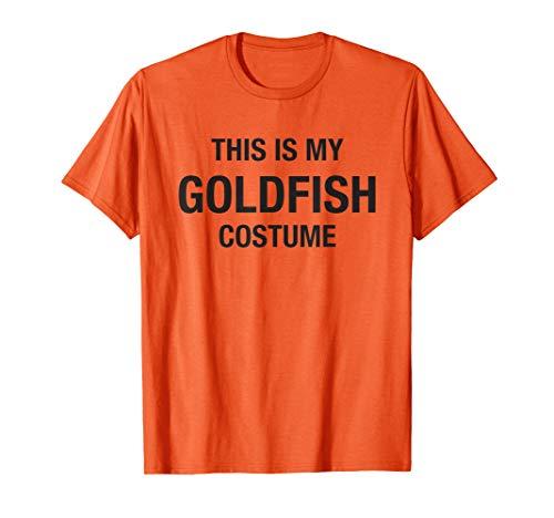 Halloween My Goldfish Costume Orange Shirt Funny