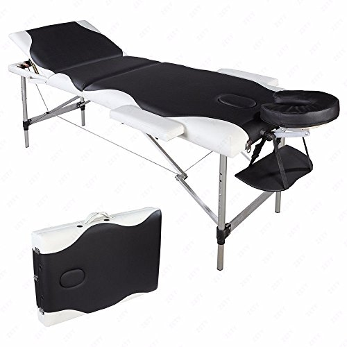 Aluminum 3 Section Folding Massage Table Facial SPA Bed Tattoo w/Free Carry (Aqua Pro Inflatables)