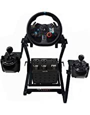GT Omega Racing Wheel Stand for Logitech G920 G29 G923 Driving Force Gaming Steering Wheel, Pedals & Gear Shifter Mount V1, PS4, Xbox, Ferrari, PC - Foldable, Tilt-Adjustable to Ultimate Sim Racing Experience