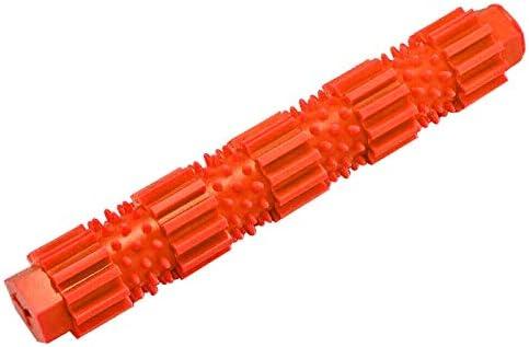 ホリデーギフト おもちゃの犬、ペットの犬のおもちゃ、歯のクリーニングのためのゴム犬のおもちゃ 減圧の喜び (Color : Orange, Size : S)