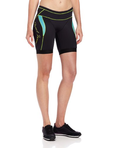 Pearl Izumi Women's Elite In-R-Cool Tri Shorts (Black/Scuba Blue, X-Small)
