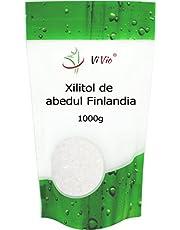 Azucar de Abedul Vivio. Xilitol Genuino de Finlandia. 100% Natural. Envase Autocierre. Pack Ahorro de 1 Kg