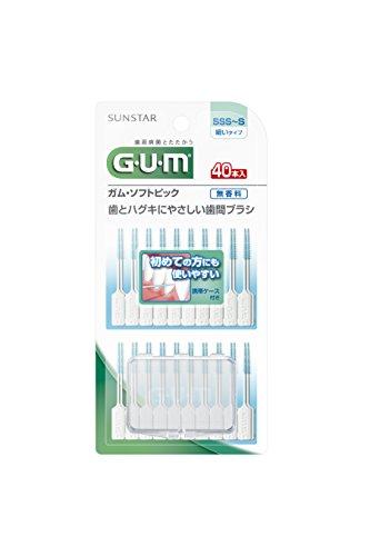 Price comparison product image Japan Health and Dental Care - GUM (gum) software pick 40P fragrance-free [SSS ~ S] *AF27*