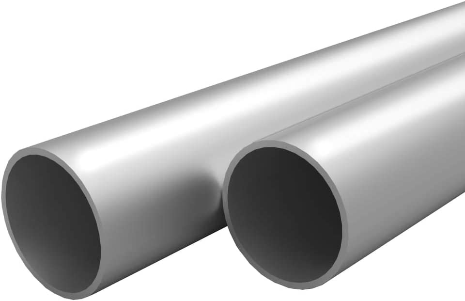 UnfadeMemory Tubo de Aluminio Redondo para Maquinaria,Barras Huecas de Aluminio,4uds (Longitud 197cm, 25x2mm)
