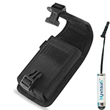 Samsung Galaxy S5 Active/ S6 Active/ S5 Sport/ S7 Active/ S7/ S8 Vertical Heavy Duty Rugged Canvas Case Pouch Holster  (Plus Size Fits Phone with Armor Otterbox Commuter on) + MYNETDEALS Mini Stylus