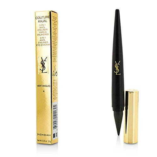 0.05 Ounce Khol Pencil (Yves Saint Laurent Couture Kajal 3 In 1 Eye Pencil (Khol/Eyeliner/Eye Shadow) - 1.5G/0.05Oz (Color: #4 Vert Anglais))