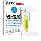 eoqo 9H Hardness HD Tempered White Full Coverage Glass Screen Preotector for Apple iPhone 8 Plus - iPhone 7 Plus,2 Pack