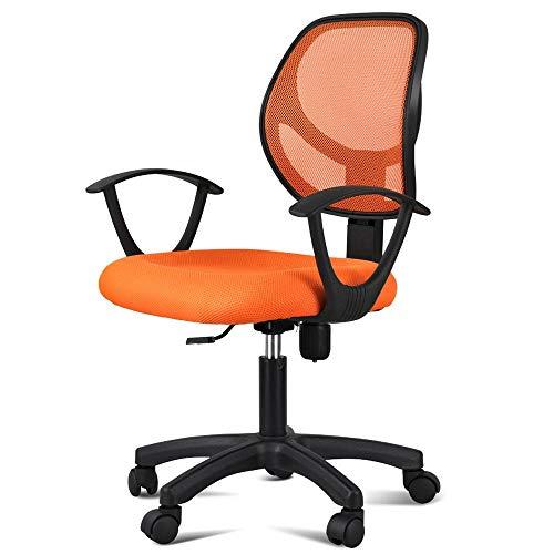 Yaheetech Office Chair Ergonomic Cheap Desk Chair Mesh Computer Chair Lumbar Support - Orange