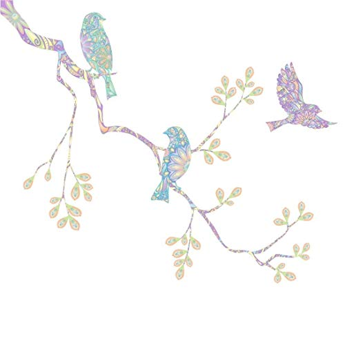 Pastel Birds and Tree Branch Wall Decal Set by My Wonderful Walls (UP ON Left)