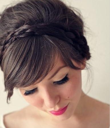 Amazon Com Uniwigs Hair Braids Braided Headband Dark Brown Color Y