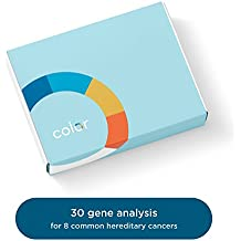 Color Hereditary Cancer Test - Genetic Test for Hereditary Cancer Risk, Including Breast, Ovarian, Colon & 5 Other Cancers - Analysis of 30 Genes Including BRCA1 & BRCA2 (Not available in NY)