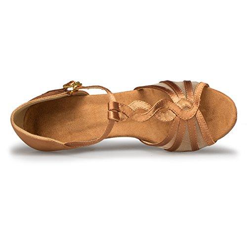 Minitoo , Danse de Salon femme - Marron - Brown-7.5cm Heel,