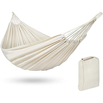 Best Choice Products Portable Cotton Brazilian Double Hammock Bed 2 Person Patio, Camping- White