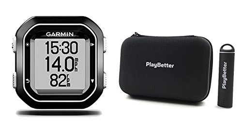 Garmin Edge 25 with PlayBetter Portable USB Charger, Hard Carrying Case, Bike Mount, USB Cable | Power Bundle | World's Smallest GPS Cycling Computer by PlayBetter
