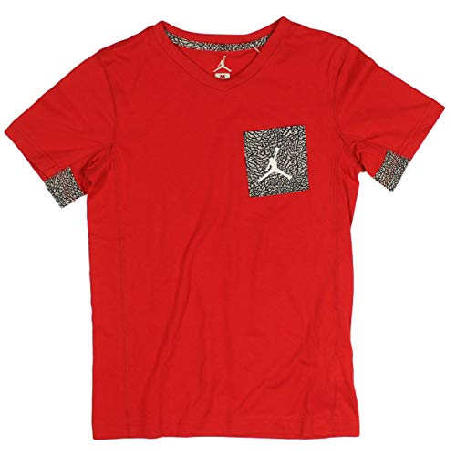 Jordan Jumpman Big Boys Short Sleeve Graphic Pocket T-Shirt (Medium, Gym Red/Black Camo)