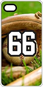iphone covers Baseball Sports Fan Player Number 66 Clear Plastic Decorative Iphone 5c Case
