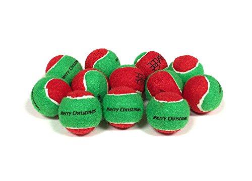 Midlee Merry Christmas Dog Tennis Balls (Small)
