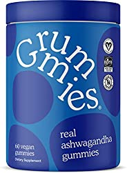 Grummies Ashwagandha Gummies - Real Superfood Gummies - IGEN Non-GMO Tested & Vegan Certified - 60 Vegan A