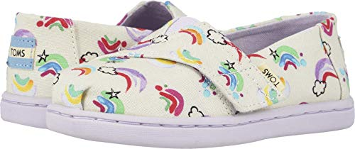TOMS Kids Baby Girl's Alpargata (Toddler/Little Kid) White Jumping Rainbows 11 M US Little Kid -