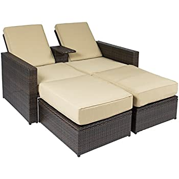 Amazon Com Best Choice Products Outdoor 3pc Rattan