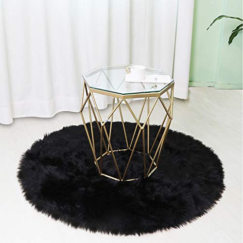 LEEVAN Super Soft Faux Fur Sheepskin Rug Shaggy