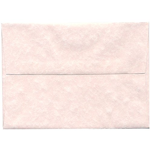"JAM Paper A7 Invitation Envelope - 5 1/4"" x 7 1/4"" - Parchment Pink Ice Recycled - 50/pack"