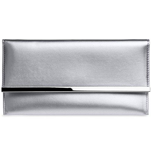 Argenté Elegante Clutch Abendtasche Tasche Caspar Ta405 Envelope Flache Kleine Damen wFttTzOqx