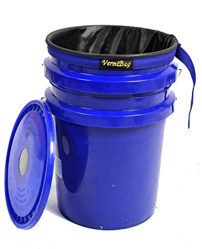 VermiBag VermiBucket Composting Systems Convert Your 5 Gal Bucket into a Continuous Flow Thru System. Handmade Breathable Fabric Liner Worm Composting Bin.100% American Veteran Made.