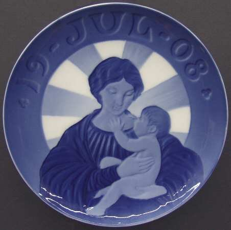 (Royal Copenhagen Christmas Plate 1908 Madonna and Child)