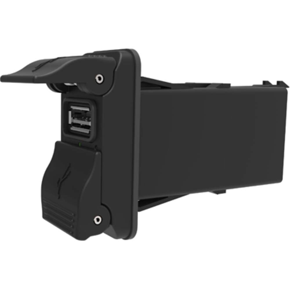 USB Charger; V-Series; 2 Port; 12-24V; 3.15A; IP64; Fits 1.45x0.83-in. Panel Opening