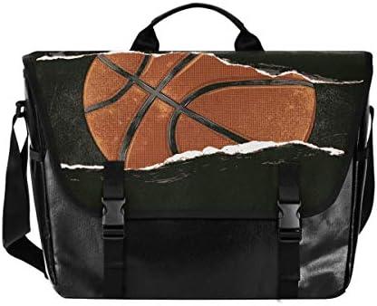 メッセンジャーバッグ メンズ バスケ ボール おもしろ 斜めがけ 肩掛け カバン 大きめ キャンバス アウトドア 大容量 軽い おしゃれ