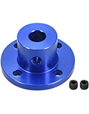 uxcell 6mm Inner Dia H15*D15 Rigid Flange Coupling Motor Guide Shaft Coupler Motor Connector for DIY Parts