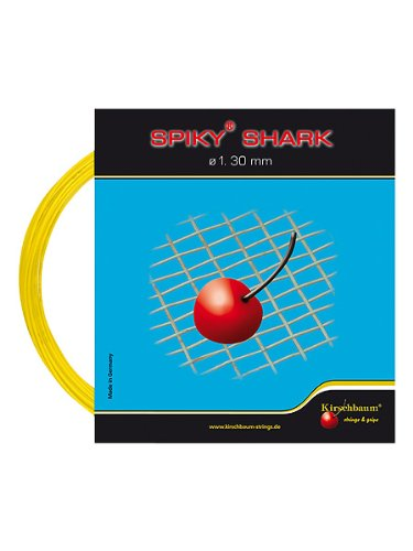 Kirschbaum Set Spiky Shark Tennis String, 1.25mm/17-Gauge, Yellow