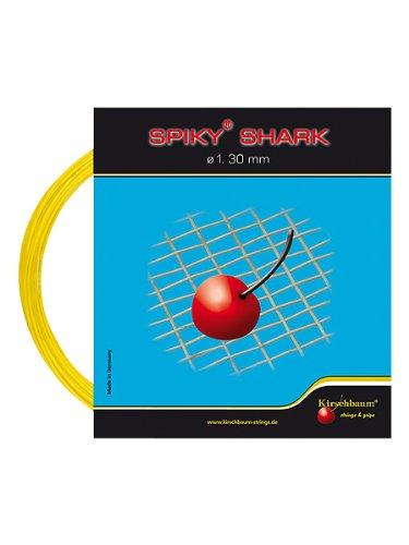 Kirschbaum Set Spiky Shark Tennis String, 1.30mm/16-Gauge, Yellow