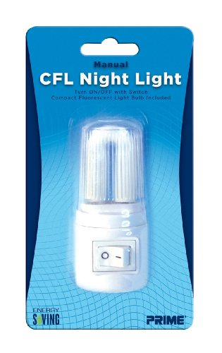 Prime Wire & Cable NLMCF Compact Fluorescent Night Light, 1-Pack