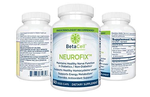 NEUROFIX: Nerve Vitamin Supplement 60 Vege Caps - B Vitamin Supplement - Dietary Supplement - Alpha Lipoic Acid 300mg - Nerve Health Supplements (Best Vitamins For Nerves)